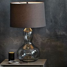 gourd table lamp (charcoal) from @west elm