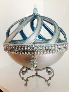 Farberge jewelry ostrich egg