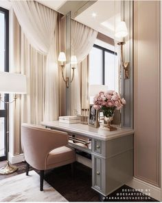 Soft rosy mauve can be chic, flirty and feminine making it a perfect choice for a dressing room. Image: Desart Decor Design by Tara Kanova Interior Design Living Room Decor, Bedroom Decor, Bedroom Furniture, Budget Bedroom, Decor Room, Bedroom Wall, Bedroom Ideas, Dressing Room Design, Dressing Rooms