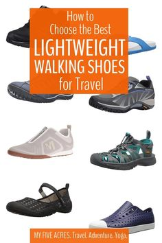Lightweight Walking Shoes – Get Tips on Choosing & Our Picks of the Best Good Walking Shoes, Stylish Walking Shoes, Mens Walking Shoes, Best Shoes For Travel, Travel Shoes Women, Clarks, Packing Tips For Travel, Vacation Packing, Packing Lists