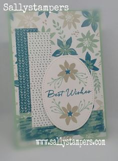 Blooms and Bliss, Blooms and Wishes Birthday card. Independent Stampin' Up!® Demonstrator UK.