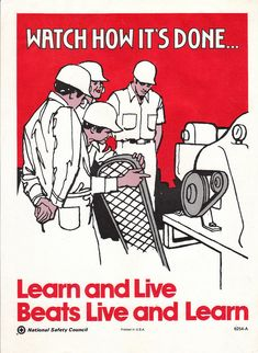 """""""Learn and Live"""" wartime poster"""