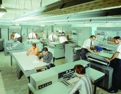 Analog computer equipment in the old Space Flight Operations control center, 1960