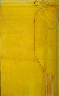 Permanentbutter - Richard Diebenkorn, Ocean Park No 82 Richard Diebenkorn, Arthur Dove, Tachisme, Yellow Art, Mellow Yellow, Bay Area Figurative Movement, Modern Art, Contemporary Art, Ocean Park