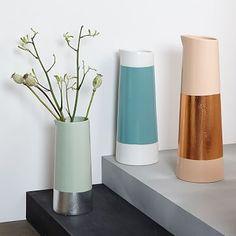 Metallic Stripe Ceramic Vases #westelm