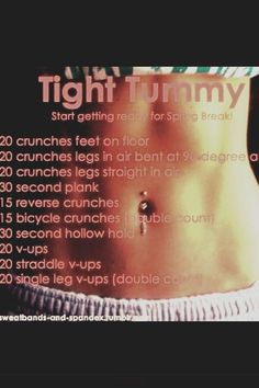 bikini abs workout, only 7 min and it really feels good. I love doing Tiffany Rothe workouts on youtube - shes has a ton!!