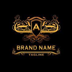A Elegant Vector Amazing Logo Design Premium Template Design Vector, Logo Design Template, Logo Templates, Creative Logo, Best Photography Logo, Car Brands Logos, Car Logo Design, Knight Logo, Luxury Logo