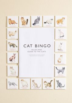 Cat Bingo. You're always on the prowl for new pet friends, so searching for the cat breeds on this bingo game comes naturally! #multi #modcloth