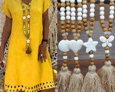 Colier vintage boem pentru femei, cu franjuri