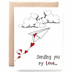 Sending You My Love, Thinking of You Card You And I, I Love You, My Love, Papers Co, Paper Goods, Buzzfeed, Your Cards, Distance, Card Stock