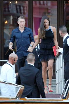 Bastian Schweinsteiger and Ana Ivanovic head out of the amazing Aman Hotel in Venice