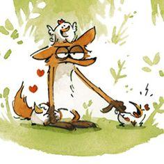 """Résultat de recherche d'images pour """"illustrations le grand méchant renard"""""""