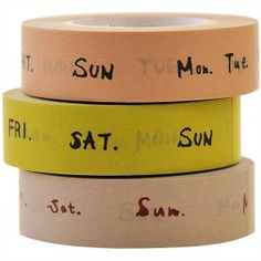 """Days of the week washi ... we'll """"stick"""" with Sunday!"""