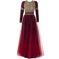 Pernia's Pop-Up Shop (11,495 MXN) ❤ liked on Polyvore featuring dresses, gowns, purple ombre dress, ombre dress and purple dress