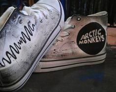 Hand made Arctic Monkeys Logo on Converse White or Black base