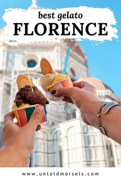 Where to go for the best and most delicious gelato in Florence Florence, Italy food tips - where to find the best gelato in Florence. Take a break from sightseeing and indulge in delicious gelat Things To Do In Italy, Good Things, Food Hacks, Food Tips, Gelato Flavors, Italy Travel Tips, Travel Destinations, Mango Cheesecake, Italy Food