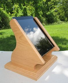 iPad Desktop Swivel Base Stand for Square and other by WOODESIGNER.etsy.com