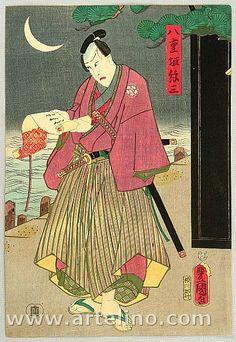 Samurai Yaegaki by Kunisada Utagawa 1786-1865