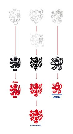 Czech Rugby Logo by Lumir Kajnar, via Behance