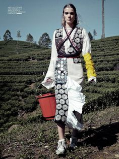 """The Exotic Journey"" by Bharat Sikka for Marie Claire Italia May 2015"