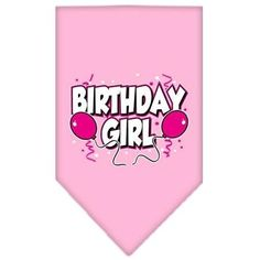 Mirage Pet Products Birthday Girl Screen Print Bandana for Pets, Large, Light Pink >>> Learn more by visiting the image link.