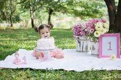 Ideas For Birthday Photoshoot Cake Baby Girls Smash Cake Girl, 1st Birthday Cake Smash, Baby Girl First Birthday, Birthday Cake Girls, Birthday Girl Pictures, First Birthday Photos, Cake Smash Photography, Birthday Photography, Party Photography