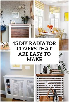 8 diy radiator covers that you can easily make - Deborah Home Diy Radiator Cover, Radiator Shelf, Radiator Ideas, Ikea Design, Design Room, Home Radiators, Looks Cool, Home Projects, Diy Furniture
