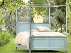 chalk paint four poster bed - Google Search