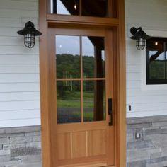 Single Exterior Door With Transom
