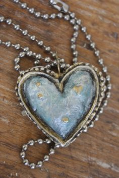 Blue Antique Heart