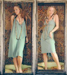 mama wolf smock dress. organic cotton hemp. by RunWithTheTribe, $99.00
