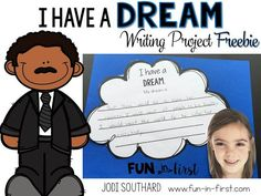 "Love this writing freebie to use in January to help students understand Martin Luther King, Jr. and his ""I Have a Dream"" speech."