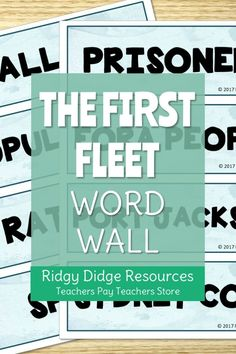 Teaching your students about the First Fleet can be fun and engaging! Display these 40 word wall posters around your classroom to help immerse your students with the language surrounding this topic. Teacher Pay Teachers, Teacher Resources, 2017 Word, First Fleet, Wall Posters, History Education, Australian Curriculum, Teacher Organization, Classroom Displays