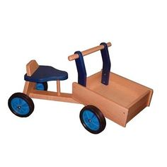 Playwood Houten Bakfiets Blauw Speelgoed categorie: Speelgoed en spellen