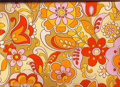 vintage floral wallpaper 1970s.......i love everything from the 70's......crazy and colourful!