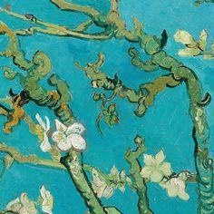 "Almond Blossom detail Vincent van Gogh """