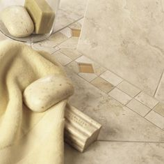 Check out this Daltile product: Brancacci - Inspiring Ideas through Real Use. Photo Features Windrift Beige 12 x 12 field tile bordered by 3 x 12 floor/wall Universal Decorative tile. Bathroom Floor Tiles, Beige Bathroom, Bathroom Inspiration, Bathroom Ideas, Bath Ideas, Bathroom Designs, House Tiles, Contemporary Bathrooms, Decorative Tile