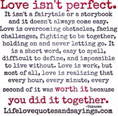 Love isn't perfect