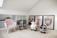 A view at the playroom in the attic we designed in our completed Lili & Lola Project in Geneva Switzerland