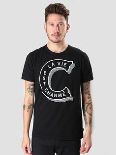 La Vie Est Chanme T-Shirt Black F15-15