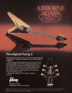 Flying V Ad #Gibson.  Used to have this poster hanging on my bedroom wall.