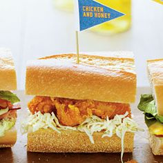 "Chicken & Honey Sandwiches | This sandwich falls under the ""hearty fare"" category. It'll satisfy your hunger to win"