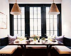 sorte vinduer, integrert sittegruppe