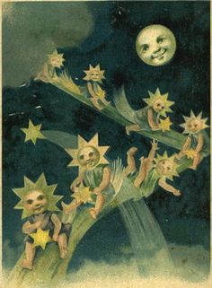 Vintage new year card.