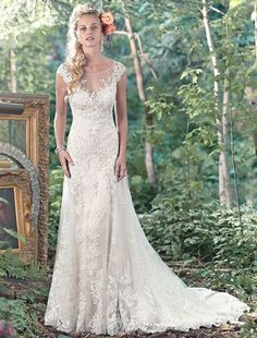 Bridesire - A-Linie Herz-Ausschnitt ärmellos Brautkleid [158514] - €209.83 : Bridesire