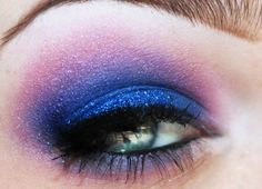 galactic; purple ombre makeup