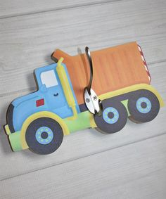 Toad and Lily Boys Construction Truck Wall Hook Boys Construction Room, Truck Bedroom, Hat Holder, Decorative Hooks, Wall Mounted Coat Rack, Butterfly Wall, Baby Boy Nurseries, Wall Hooks, Kids Boys