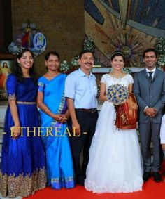 Sister of the bride in a custom made Ethereal gown #ethereal #etherealkochi #royalbluegown #sisterofthebride