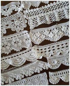 1 Yard Vintage style Cotton Crochet Lace Trim - lovely Flower 331 - MyKingList.com