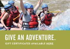 Give the gift of adventure. Gift certificates available here